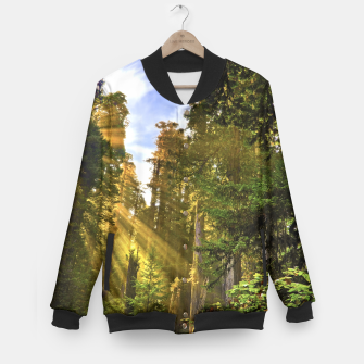 Thumbnail image of Magical Redwood Forest Baseball Jacket, Live Heroes