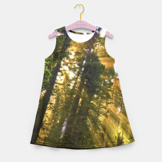 Thumbnail image of Magical Redwood Forest Girl's Summer Dress, Live Heroes