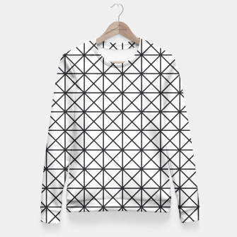 Thumbnail image of Prism Pattern Optical Illusion Fitted Waist Sweater, Live Heroes