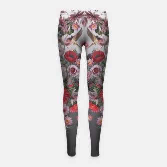 Thumbnail image of flowers and animals Girl's Leggings, Live Heroes
