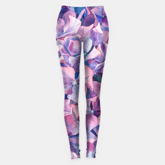 Thumbnail image of Violet hydrangea Leggings, Live Heroes