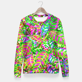 Thumbnail image of Leaves in Dappled Light Fitted Waist Sweater, Live Heroes