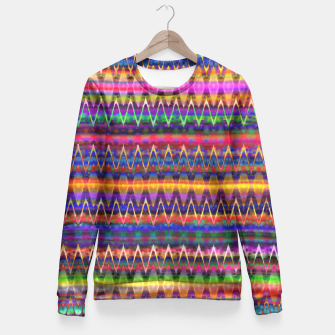 Thumbnail image of Sounds of Colourful Birds Fitted Waist Sweater, Live Heroes