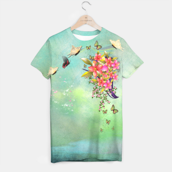Thumbnail image of Trendy Flower Bouquet T-shirt, Live Heroes