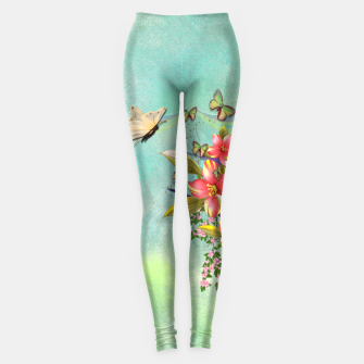 Thumbnail image of Trendy Flower Bouquet Leggings, Live Heroes