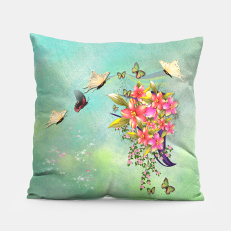 Trendy Flower Bouquet Pillow thumbnail image