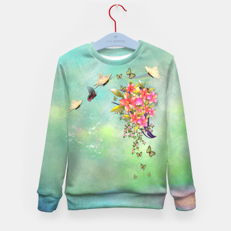 Miniature de image de Trendy Flower Bouquet Kid's Sweater, Live Heroes