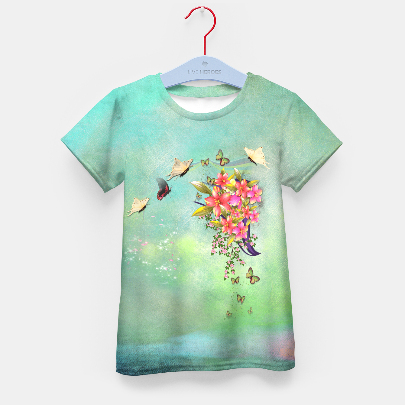 Image of Trendy Flower Bouquet Kid's T-shirt - Live Heroes
