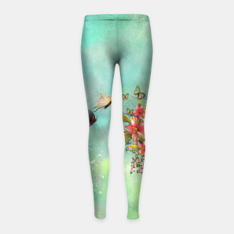 Thumbnail image of Trendy Flower Bouquet Girl's Leggings, Live Heroes
