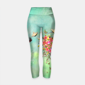 Thumbnail image of Trendy Flower Bouquet Yoga Pants, Live Heroes