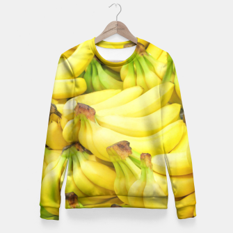 Thumbnail image of Banana Pattern Fitted Waist Sweater, Live Heroes