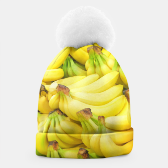 Thumbnail image of Banana Pattern Beanie, Live Heroes