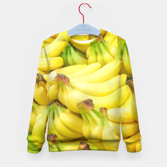 Thumbnail image of Banana Pattern Kid's Sweater, Live Heroes