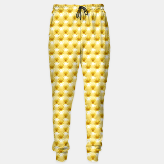 Thumbnail image of Faux Golden Leather Buttoned Sweatpants, Live Heroes
