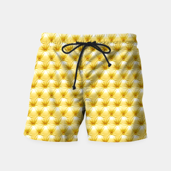 Thumbnail image of Faux Golden Leather Buttoned Swim Shorts, Live Heroes