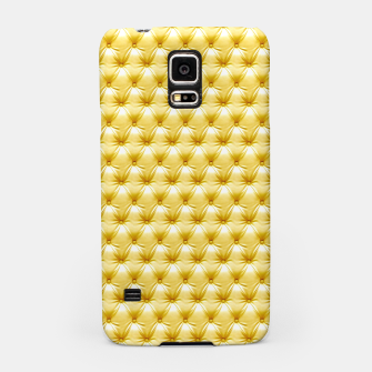 Thumbnail image of Faux Golden Leather Buttoned Samsung Case, Live Heroes