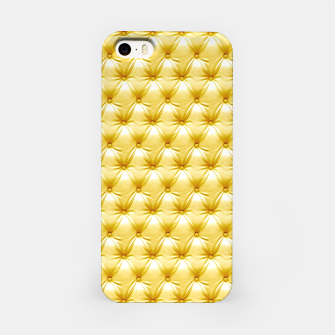 Thumbnail image of Faux Golden Leather Buttoned iPhone Case, Live Heroes