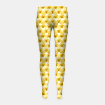 Thumbnail image of Faux Golden Leather Buttoned Girl's Leggings, Live Heroes