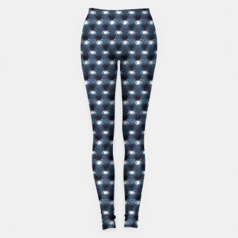 Thumbnail image of Faux Midnight Leather Buttoned Leggings, Live Heroes