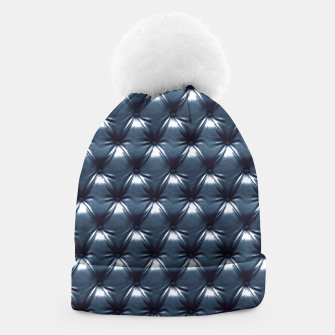 Thumbnail image of Faux Midnight Leather Buttoned Beanie, Live Heroes