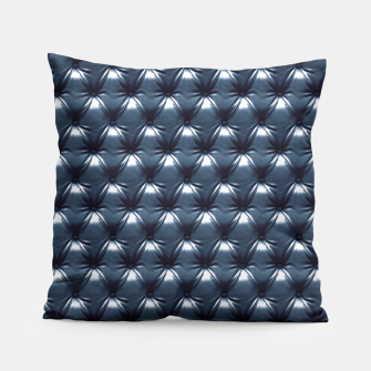 Thumbnail image of Faux Midnight Leather Buttoned Pillow, Live Heroes