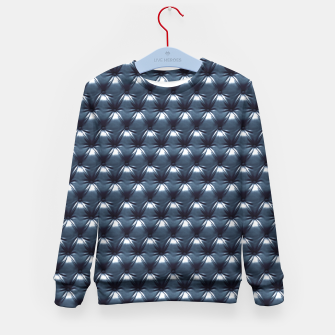 Thumbnail image of Faux Midnight Leather Buttoned Kid's Sweater, Live Heroes