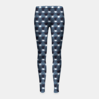 Thumbnail image of Faux Midnight Leather Buttoned Girl's Leggings, Live Heroes