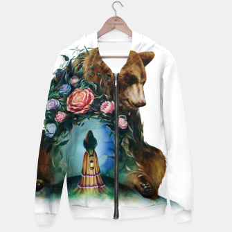 Thumbnail image of FLOWERS & BEAR Hoodie, Live Heroes