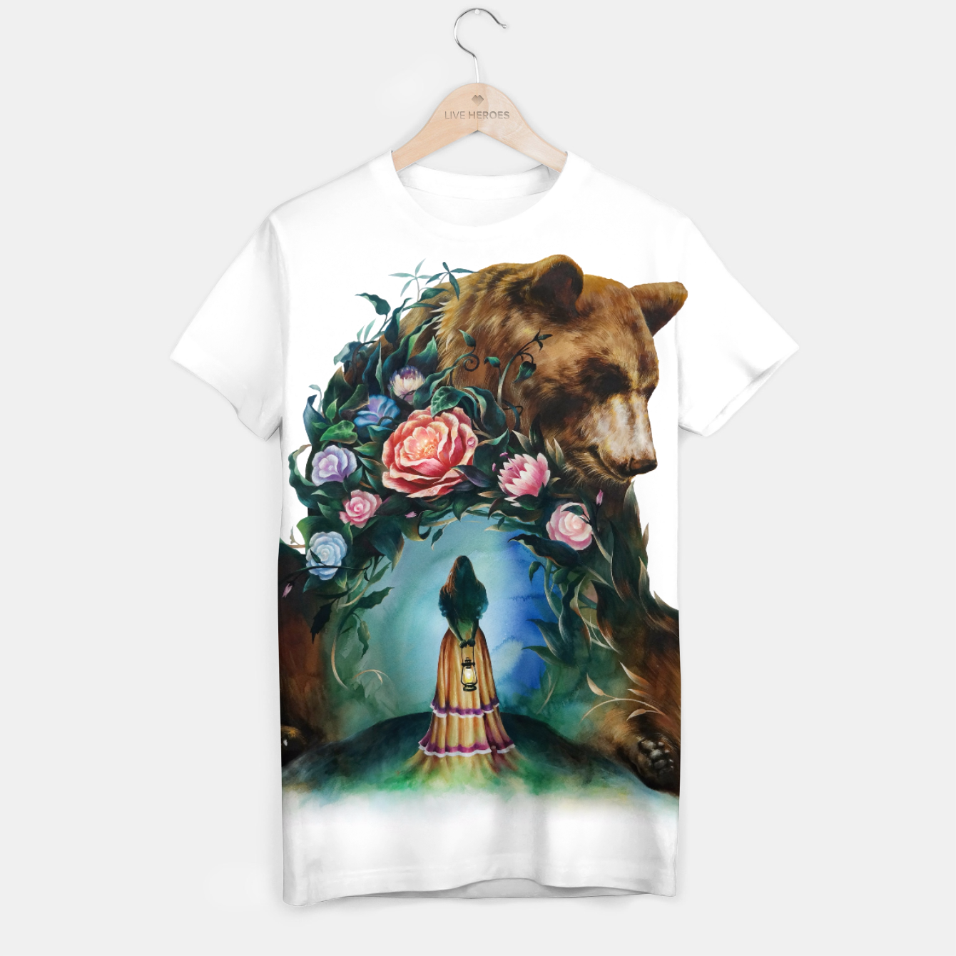 Image of FLOWERS & BEAR T-shirt - Live Heroes