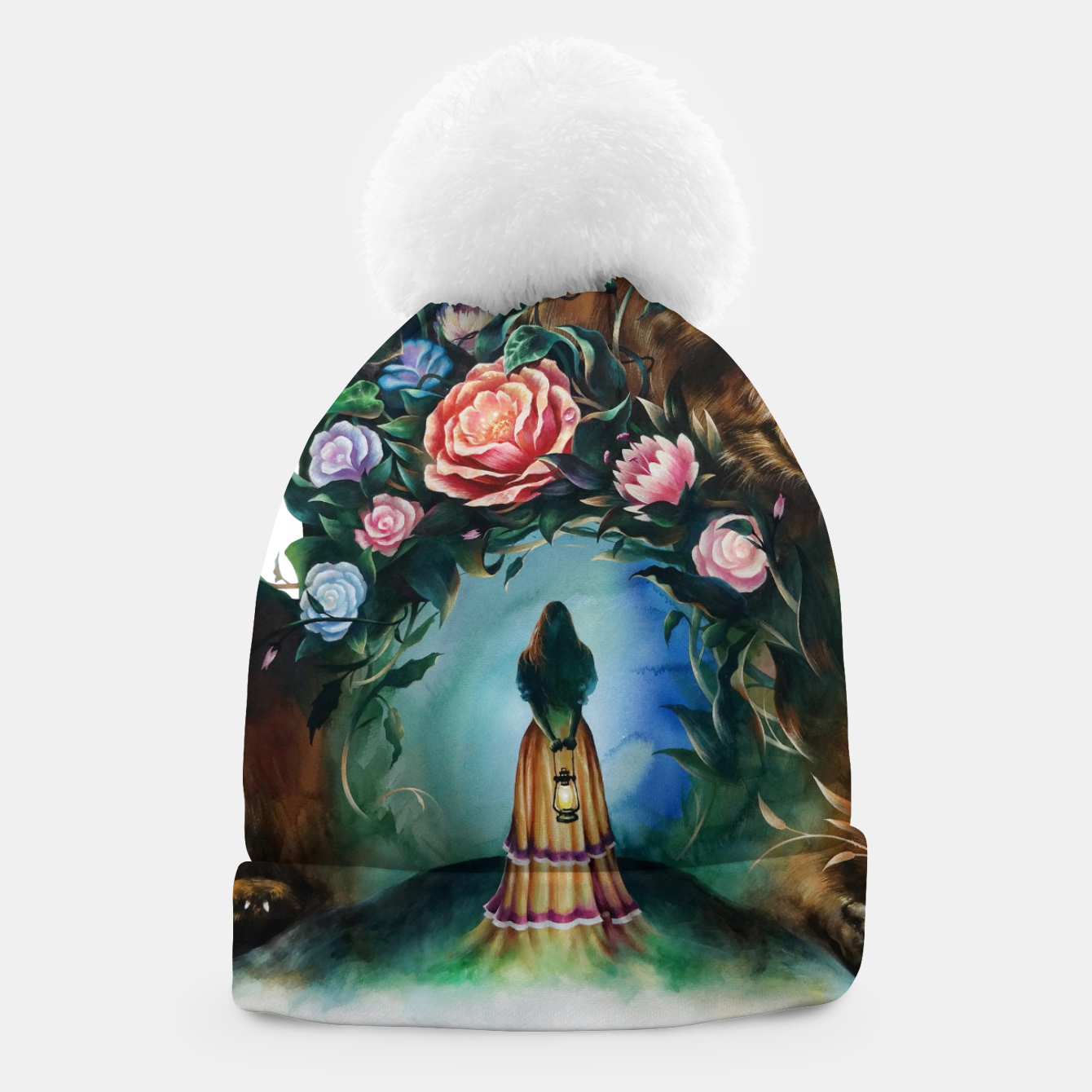 Image of FLOWERS & BEAR Beanie - Live Heroes