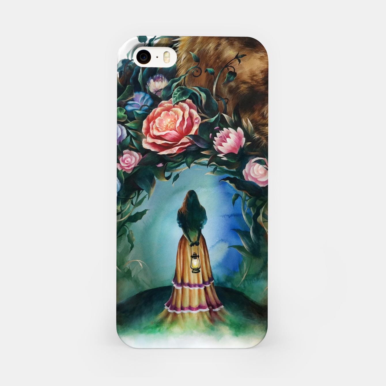 Image of FLOWERS & BEAR iPhone Case - Live Heroes