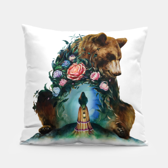 FLOWERS & BEAR Pillow thumbnail image