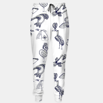 Thumbnail image of Sketch art with fairy birds and animals Sweatpants, Live Heroes