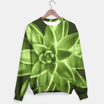 Greenery succulent Echeveria agavoides flower Sweater thumbnail image