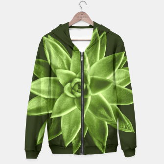 Greenery succulent Echeveria agavoides flower Hoodie thumbnail image