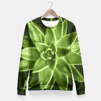 Greenery succulent Echeveria agavoides flower Fitted Waist Sweater thumbnail image