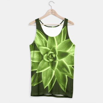 Greenery succulent Echeveria agavoides flower Tank Top thumbnail image