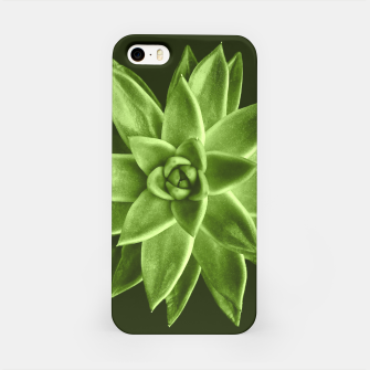 Greenery succulent Echeveria agavoides flower iPhone Case thumbnail image