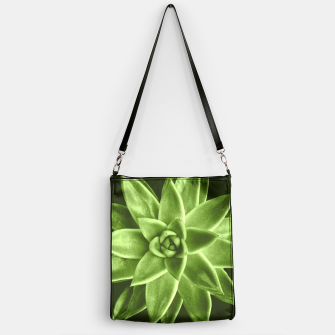 Greenery succulent Echeveria agavoides flower Handbag thumbnail image