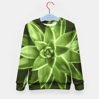 Greenery succulent Echeveria agavoides flower Kid's Sweater thumbnail image