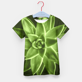 Greenery succulent Echeveria agavoides flower Kid's T-shirt thumbnail image