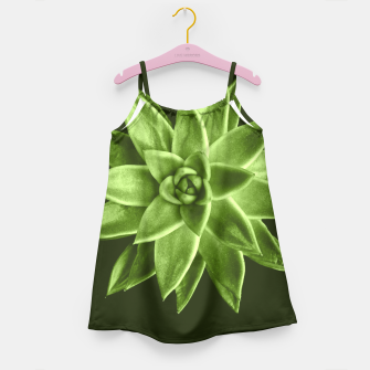 Greenery succulent Echeveria agavoides flower Girl's Dress thumbnail image