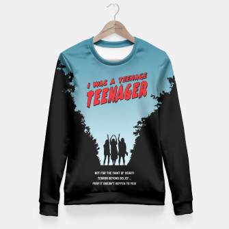Thumbnail image of Teenage Terror Fitted Waist Sweater, Live Heroes