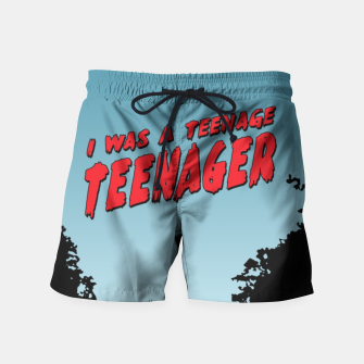 Thumbnail image of Teenage Terror Swim Shorts, Live Heroes