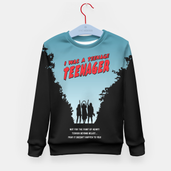 Thumbnail image of Teenage Terror Kid's Sweater, Live Heroes