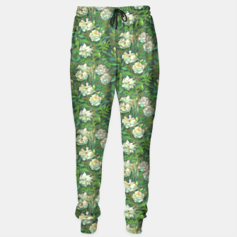 Thumbnail image of White roses, green leaves Sweatpants, Live Heroes
