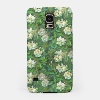 Thumbnail image of White roses, green leaves Samsung Case, Live Heroes