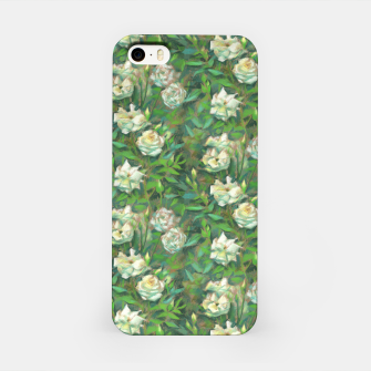 Thumbnail image of White roses, green leaves iPhone Case, Live Heroes