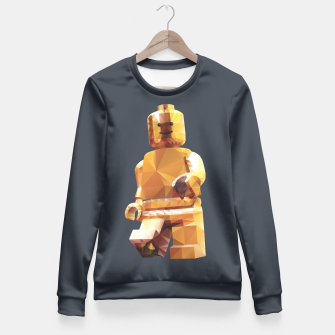 Thumbnail image of Golden Lego Minifigure Polygon Art Fitted Waist Sweater, Live Heroes