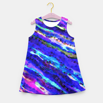 Thumbnail image of Beneath Blue Waves Girl's Summer Dress, Live Heroes